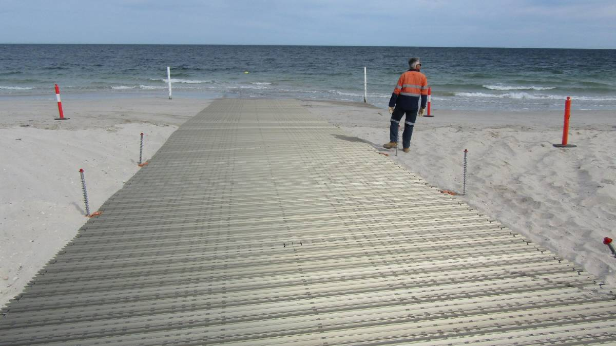 BEACH ACCESS: Kingston District Council has recently released a 'boat-ramp-on-a-roll' to work on improving launching and general beach access in Kingston.