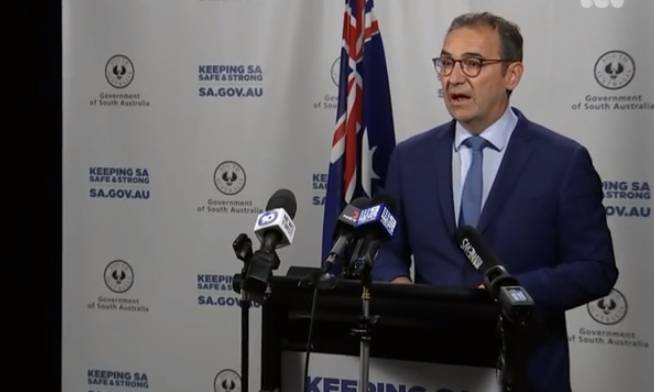 CHANGES: SA Premier Steven Marshall addresses the SA public on Wednesday with an eight-point plan for medi-hotel system.