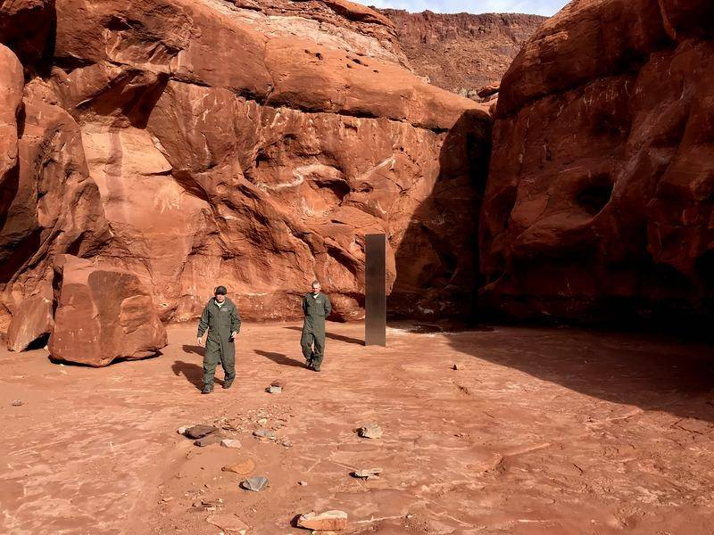 Utah state workers have found a metal monolith in the ground in a remote area of red rock.