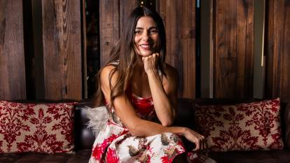 WHAT'S COOKING?: Actor, writer, opera singer and celebrity home cook Silvia Colloca on life, love and living in the northern beaches. Picture: Geoff Jones